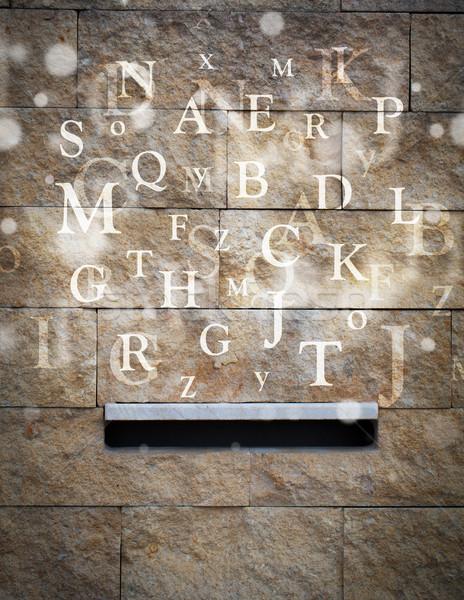 Foto stock: Cartas · fora · rua · papel · livro