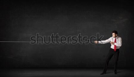 Işkadını silah kadın arka plan Stok fotoğraf © ra2studio