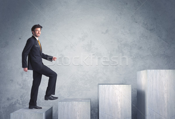 stepping up a staircase Stock photo © ra2studio