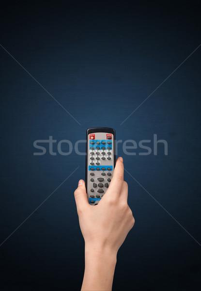 Сток-фото: стороны · пультом · синий · телевидение · электрических