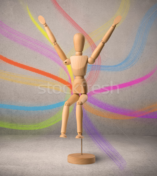 Wooden mannequin c Stock photo © ra2studio