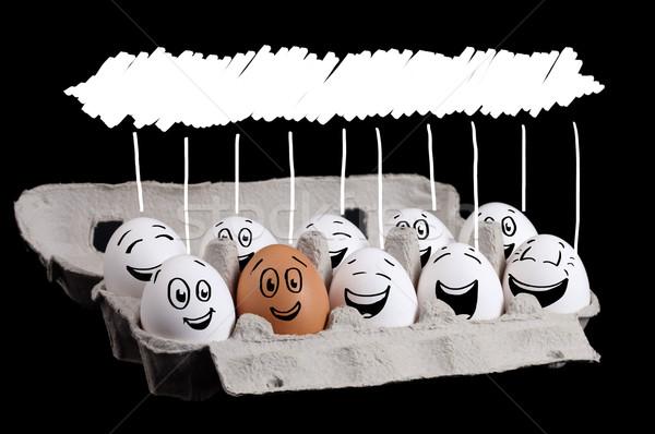Boldog csoport tojások copy space fej mosoly Stock fotó © ra2studio