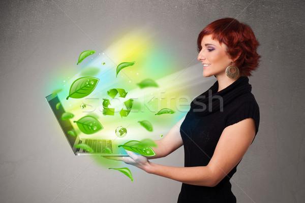 Casual cuaderno reciclar ambiental Foto stock © ra2studio