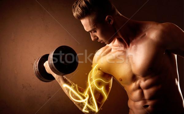 Stock fotó: Izmos · test · építész · emel · súly · energia · fények