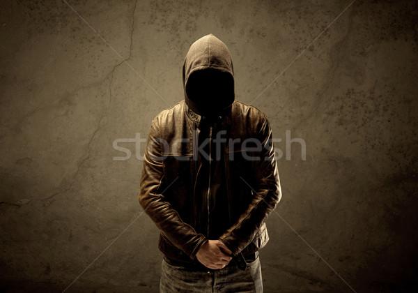 Oscuro suspicaz maduro masculina urbanas Foto stock © ra2studio
