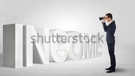 Gigante persona piccolo imprenditore uomo sfondo Foto d'archivio © ra2studio