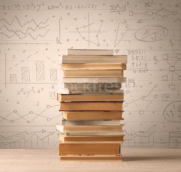 Livros matemática fórmulas escrito rabisco Foto stock © ra2studio