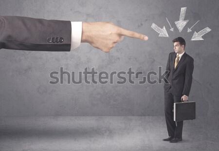 Angry business handshake concept Stock photo © ra2studio