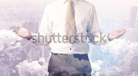事業者 立って 景観 青 ビジネス 空 ストックフォト © ra2studio