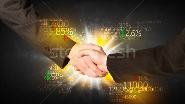Economie handdruk business aantal analyse man Stockfoto © ra2studio