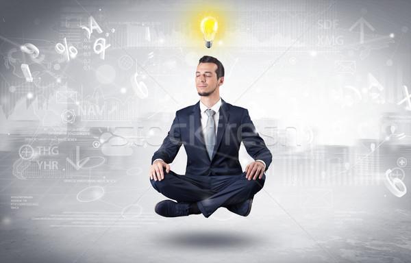 üzletember megvilágosodás adat jelentések pénzügyi férfi Stock fotó © ra2studio