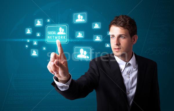 ストックフォト: ビジネスマン · 現代 · 社会 · タイプ · アイコン