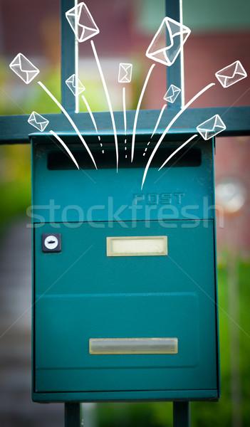 Na zewnątrz poczty litery papieru ściany Zdjęcia stock © ra2studio