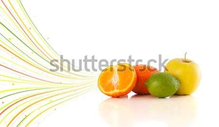Sağlıklı tropikal meyve renkli soyut hatları Stok fotoğraf © ra2studio
