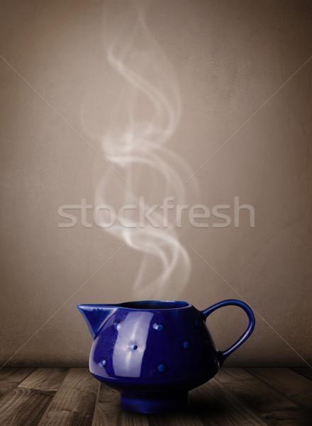 чай банка аннотация белый пар Сток-фото © ra2studio