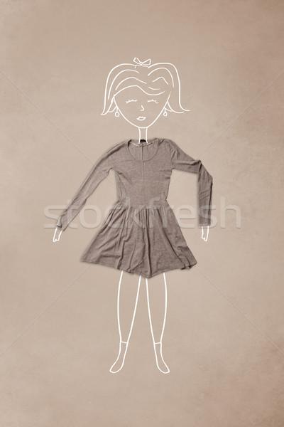 服 アクション 女性 図面 カラフル 異なる ストックフォト © ra2studio