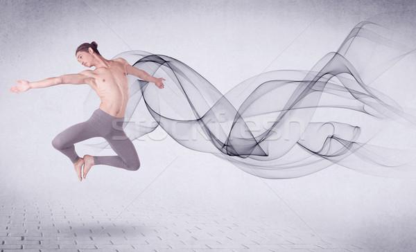Moderno ballerino di danza classica abstract turbinio uomo Foto d'archivio © ra2studio