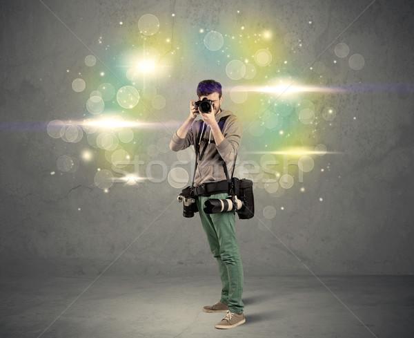 カメラマン ライト 小さな アマチュア プロ ストックフォト © ra2studio