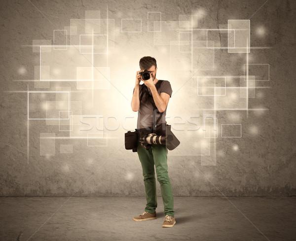 мужчины профессиональных фотограф камеры Сток-фото © ra2studio