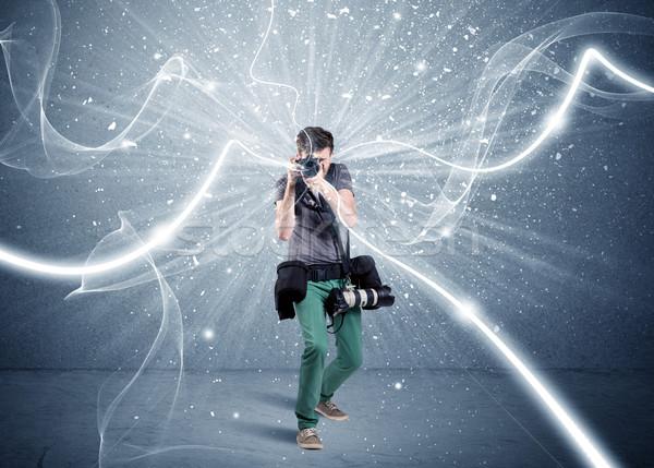профессиональных фотограф динамический линия молодые любительский Сток-фото © ra2studio