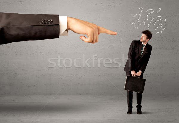Confused employee getting order from boss Stock photo © ra2studio