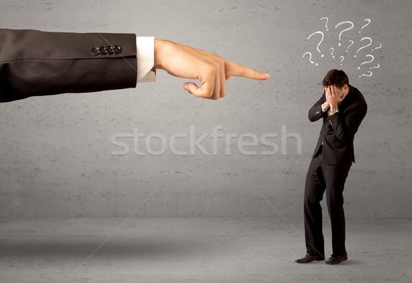 Confundirse empleado para jefe jóvenes amateur Foto stock © ra2studio