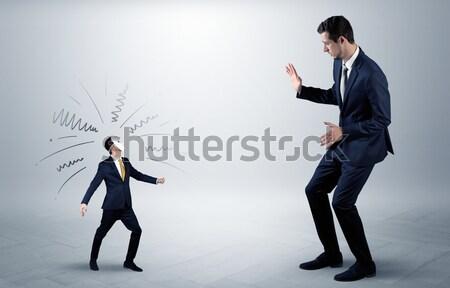 Business zakenman verbergen wapen plan rond Stockfoto © ra2studio