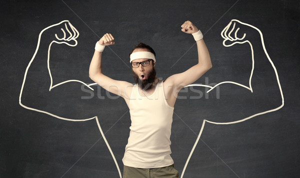 молодые слабый человека мышцы мужчины Сток-фото © ra2studio