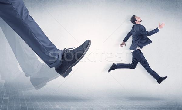 бизнесмен ногу небольшой большой молодые Сток-фото © ra2studio