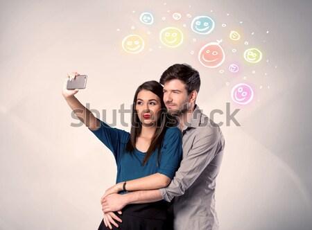 счастливым пару Сток-фото © ra2studio