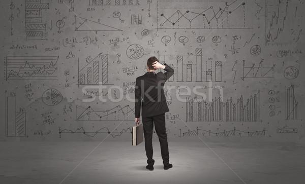 Foto d'archivio: Venditore · business · classifiche · muro · di · successo · imprenditore
