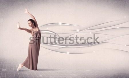 バレエダンサー 現代 ダンス 抽象的な 行 ストックフォト © ra2studio
