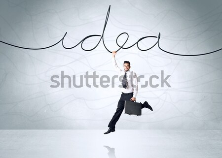 Hanging businessman Stock photo © ra2studio