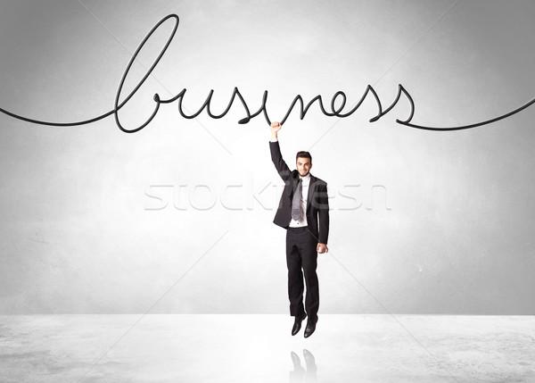 Akasztás üzletember üzlet kötél kéz terv Stock fotó © ra2studio