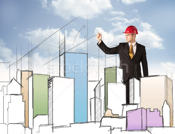 планирования город молодые красный Сток-фото © ra2studio