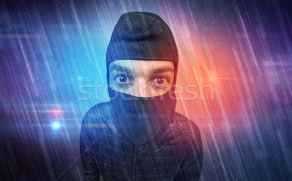 Burglar in action. Stock photo © ra2studio