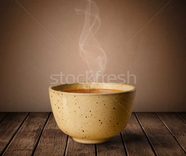 Taze lezzetli ev pişmiş çorba buhar Stok fotoğraf © ra2studio