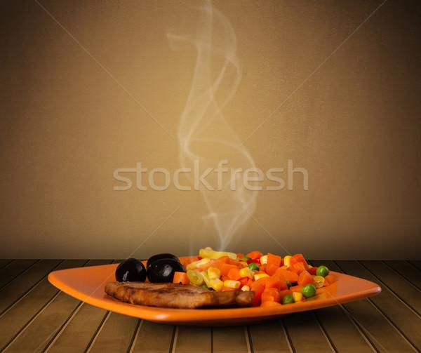 Taze lezzetli ev pişmiş gıda buhar Stok fotoğraf © ra2studio