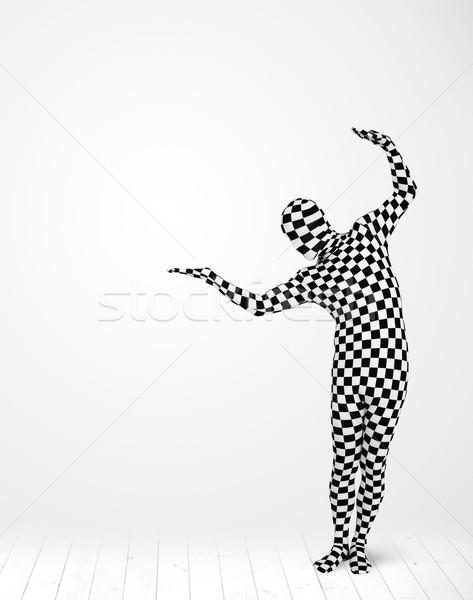Anônimo homem produto terno Foto stock © ra2studio