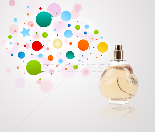 Parfüm şişe renkli kabarcıklar renkli hediye Stok fotoğraf © ra2studio
