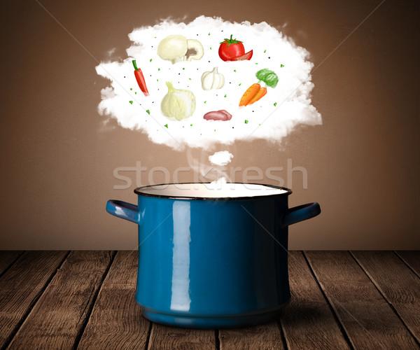 овощей пар облаке пар Сток-фото © ra2studio