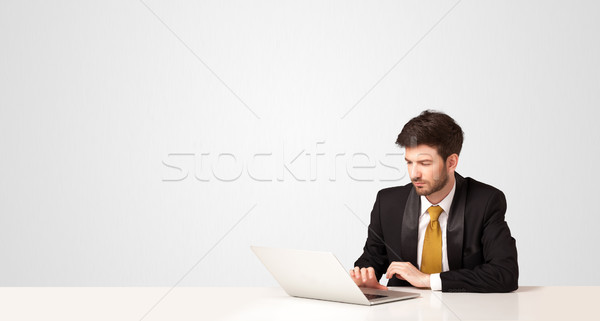 Business man with white background Stock photo © ra2studio