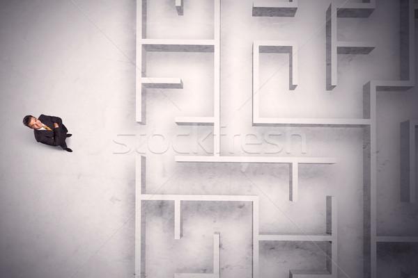 Сток-фото: путать · бизнесмен · Постоянный · лабиринт · стены
