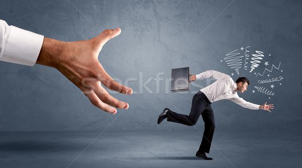 напряженный бизнесмен работает большой стороны служба Сток-фото © ra2studio