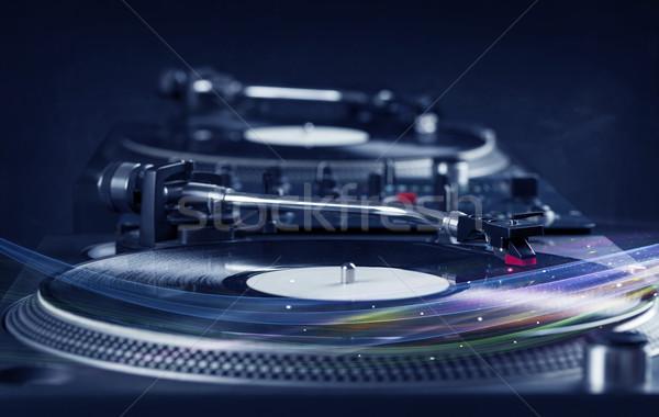 音楽プレーヤー 演奏 ビニール 音楽 カラフル 抽象的な ストックフォト © ra2studio