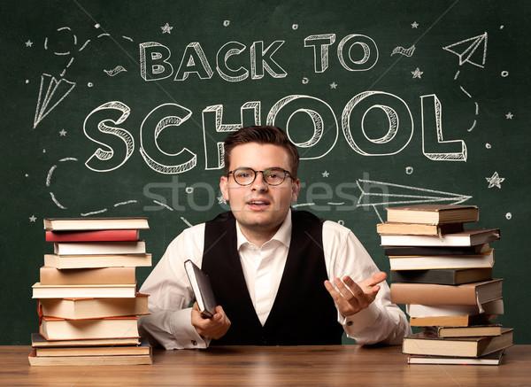 Back to school teacher Stock photo © ra2studio