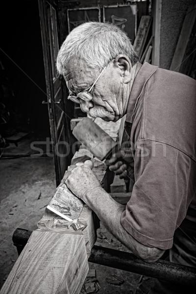 старые рабочих Vintage стиль стороны древесины Сток-фото © ra2studio