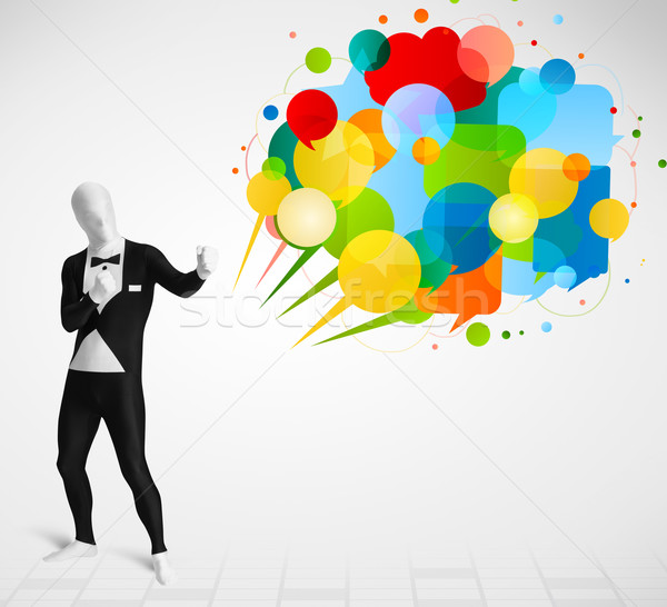 странно парень глядя красочный смешные Сток-фото © ra2studio