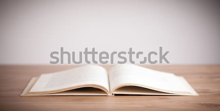 Livre ouvert bois fond bible science Photo stock © ra2studio
