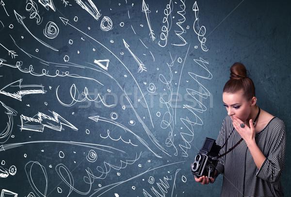 Fotoğrafçı çekim enerjik hatları Stok fotoğraf © ra2studio